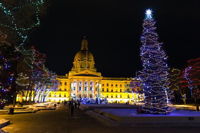 Alberta Legislature Winter Lights
