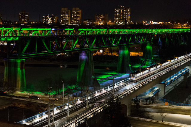 Edmonton High Level Bridge Lights