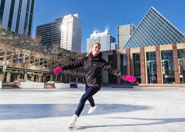 Skating at City Hall