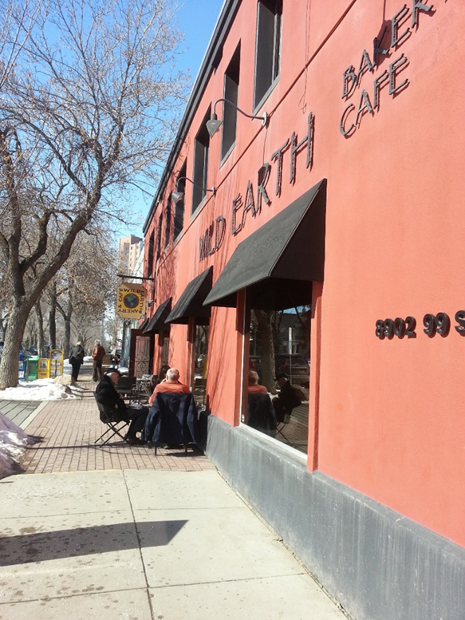 Warm Winter Day at Wild Earth Cafe