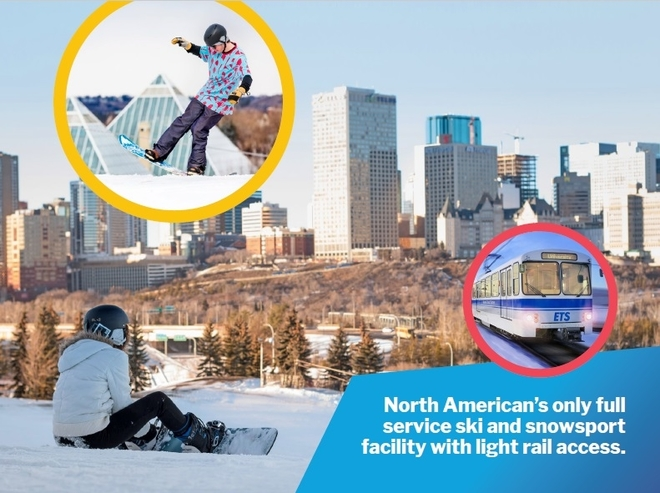 Edmonton Ski Club development with LRT