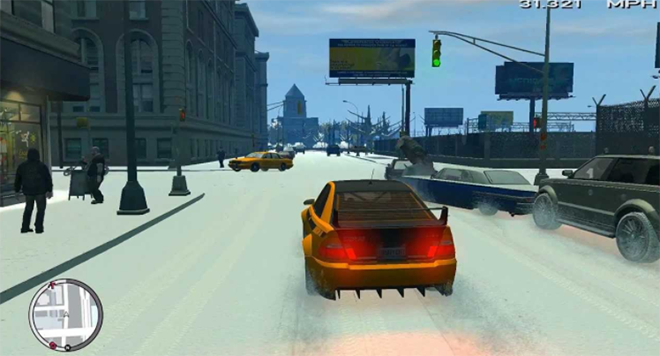 Grand Theft Auto in Winter