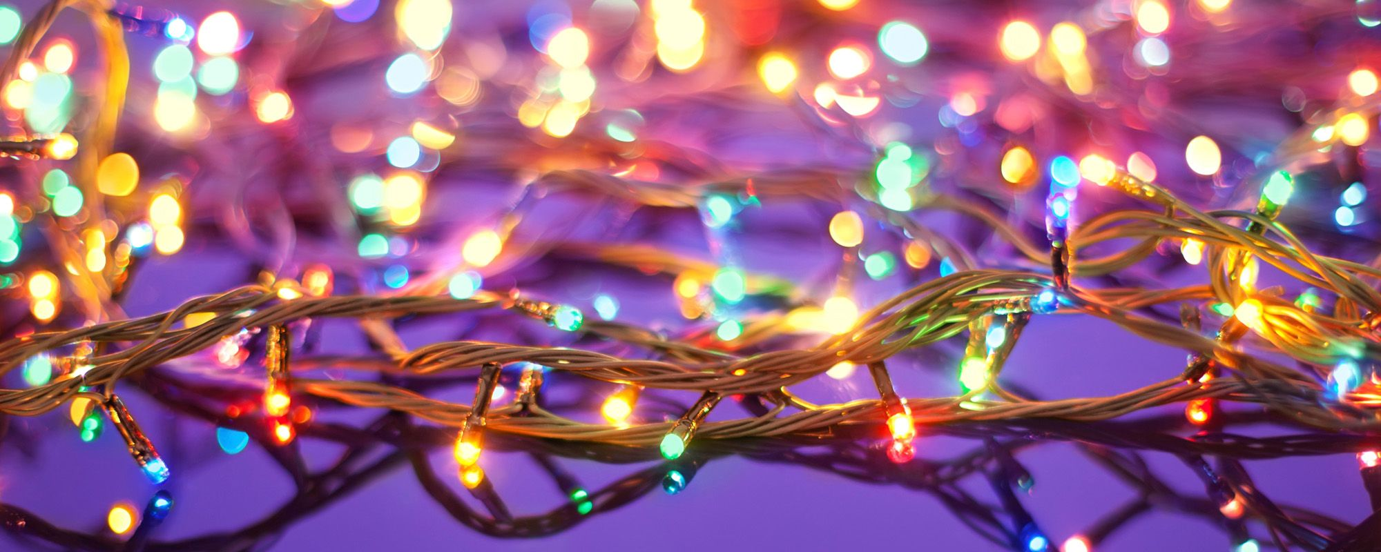 Colourful christmas lights